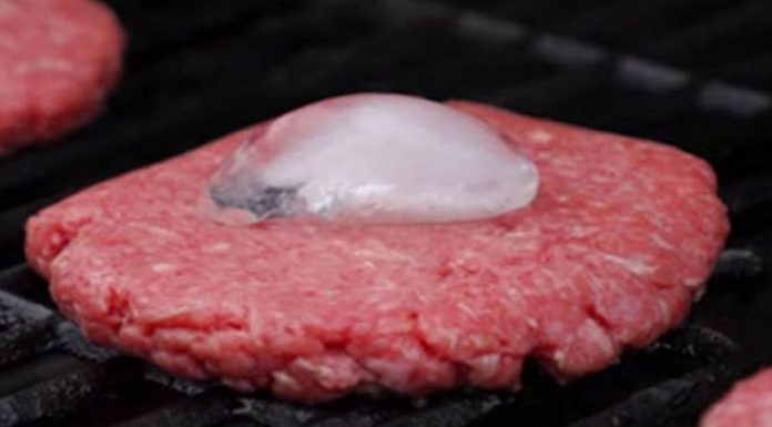 ice cube burger patty