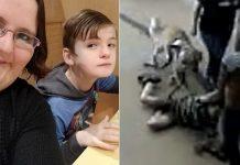 autistic boy dragged school