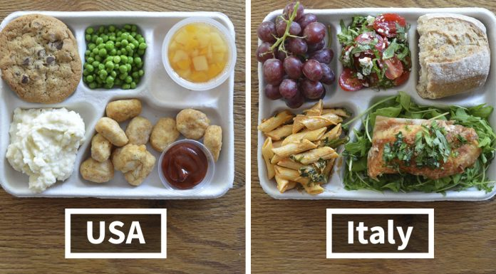 kids school lunches world