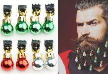 christmas beard ornaments