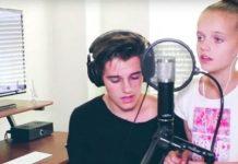 sister brother sings elvis classic