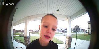 boy doorbell camera emergency