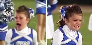 little cheerleader reunites dad