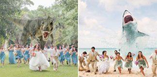 wedding party attack photos