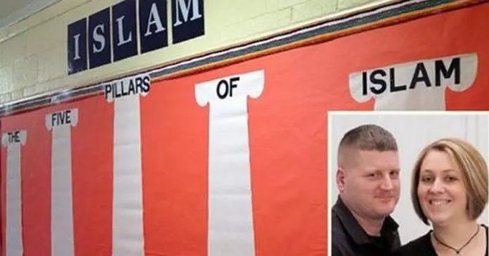 marine sues school islam
