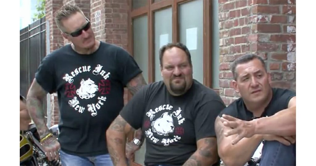 tattooed bikers Rescue Ink