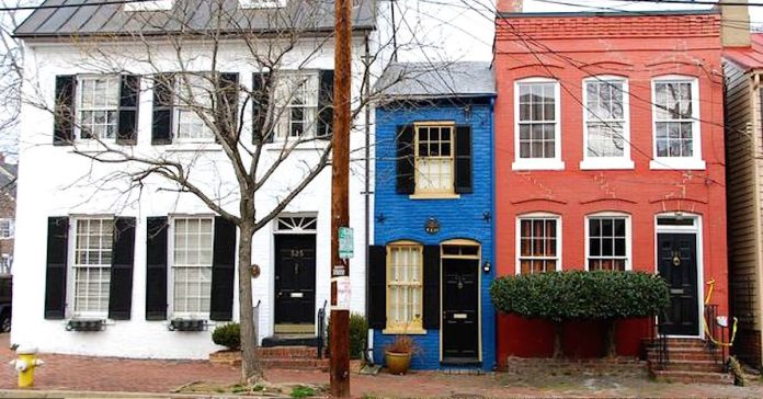 tiny blue spite house