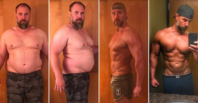 father-of-three body transformation