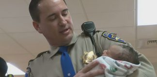 highway patrol officer revives baby