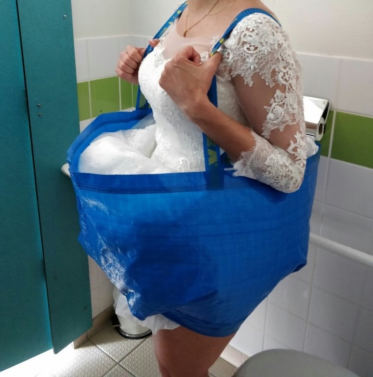 ikea bag hack bride struggle
