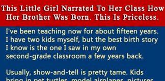 little girl explains childbirth