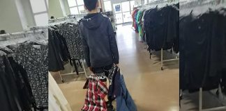 mom forces son shop goodwill