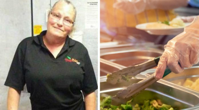 school cafeteria worker fired